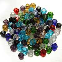 100pcs 4mm Glass Crystal Bicone Loose Beads DIY Jewelry Making
