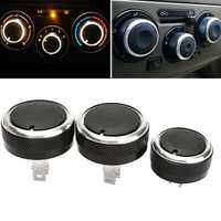 3pcs Air Conditioning Switch Knob Buttons For LIVINA/TIIDA/GENISS/NV200