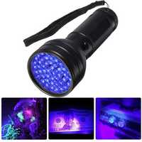 XANES 51 LED UV Scorpion Detector Hunter Finder Ultra Violet Blacklight Flashlight