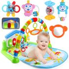 Bon prix 3 in 1 Baby Infant Gym Soft Playmat & Fitness Music Lights Fun Piano Carpet Gift