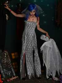 Halloween Ghost Bride Hell Goddess Zombie Devil Angel Cosplay Costume Women Party Dresses