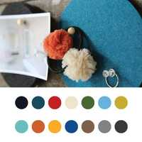 Honana DX-177 5PCS Creative Roundness Colorful Wool Felt Multifunctional Wall Sticker Smart Collect Board