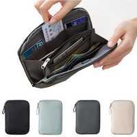 Outdoor Travel RFID Blocking Card Holder Passport Document Tickets Wallet Organizer Storage Bag