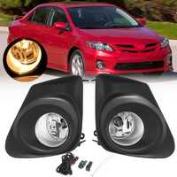 Car Front Bumper Fog Lights Lamp with H11 Bulb Switch Kit Pair for Toyota Corolla 11-13