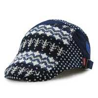 Child Girls Cotton Beret Cap Boys National Style Winter Warm Baseball Hat