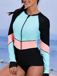 One-Pieces Long Sleeves Sun Protection Swimwear