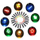 Discount pas cher 12V 24V 36V 8mm LED Metal Indicator Warning Signal Dash Light Lamp Car Truck Symbol