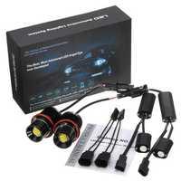 80W LED Angel Eyes Lights Halo Ring Bulbs Lamps CANBUS Error Free White 2PCS for BMW E39 E60 E53