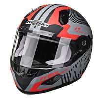 NENKI 856 Motorcycle Racing Helmet Full Face Dual Lens Fiberglass Anti-fog Warm