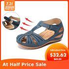 Meilleurs prix LOSTISY Women Wedges Shoes Splicing Casual Comfy Sandals