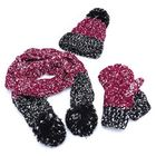 Meilleurs prix Women Girls Christmas Knit Snow Hat Glove Scarf Three Pieces
