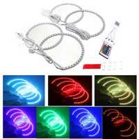 Multi-Color RGB LED Flash Strobe Light Angel Eye Rings for BMW E46 3 5 7 Series
