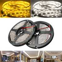 5M SMD5050 300 LED White/Warm White Non-Waterproof Flexible Tape Strip Light Lamp DC12V