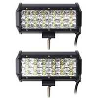 7 Inch 54W 5490LM LED Work Light Bars Flood/Spot Beam for Truck Off Road Car DC 9-30V