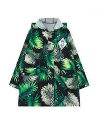 Casual Women Green Printed Hooded Trench Coat