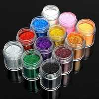 12 Colors Holo Nail Art Powder Shiny Glitter Dust Slice Tips Holographic Decoration
