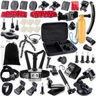 Meilleurs prix 41 in 1 Helmet Chest Belt Head Strap Mount Adapter Tripod Kit Sets for GoPro SJCam XiaoMi Action Sports Camera