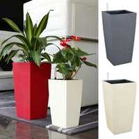 Outdoor/Indoor Creative Self Watering Planter Garden Flower Pot with Water Level Indicator
