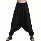 Discount pas cher Men Yoga Loose Drop Crotch Pants Male Casual Harem Pants Elastic Cotton Linen Bloomers Trousers