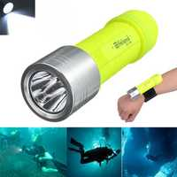 Elfeland T6 2000LM Waterproof Diving LED Flashlight 18650/AAA