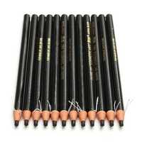12pcs Eye Brow Eyebrow Pencil Pen Natural Black Brown Colored Cosmetic Makeup Set Kit