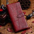 Recommandé Women Genuine Leather 19 Card Slots Long Wallet Phone Bag