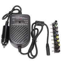 Universal 80W Laptop Car Charger Adapter Power Supply Adjustable Power Set 8 Detachable Plug
