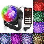 Acheter au meilleur prix ARILUX® 5W RGBWP LED Sound Activated Remote Control Crystal Ball Stage Light for Christmas Party