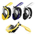 Meilleurs prix Foldable Anti Fog Snorkeling Panoramic Diving Mask All-Dry Full Face Diving Mask Gopros Mount Underwater Diving Mask Swimming Adult Kids