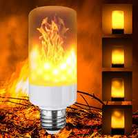 5W E12 E14 E27 E26 B22 3 Modes LED Flame Fire Light Effect Simulated Corn Bulb AC85-265V
