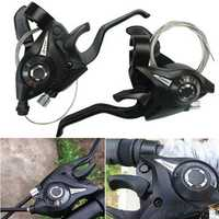 1 Pair BIKIGHT 3x7 21Speed MTB Bike Bicycle Cycling Trigger Gear Shifter with Inner Shift Cable