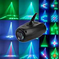 10W 64LED RGBW F5mn Stage Light Crystal Xmas Club DJ Party Disco Laser Lights Lamp