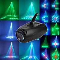 10W 64LED RGBW F5mn Stage Light Crystal Xmas Club DJ Party Disco Laser Lights Lamp