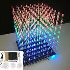 Offres Flash DIY WIFI APP 8x8x8 3D Light Cube Kit Red Blue Green LED MP3 Music Spectrum Electronic Kit No Housing