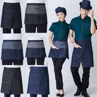 Cotton Chef Uniform Rushed The New Fashion Cowboy Apron Bust Restaurant Hotel Cafe Kitchen Aprons