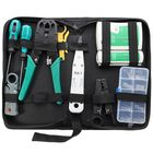 Promotion 11pcs Network Combination PC Cable Wire Tester Crimping Cutter Punch Tools Kit Set