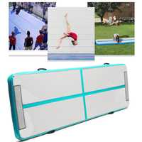 118x35x4inch Airtrack Gymnastics Mat Inflatable GYM Air Track Mat Floor Home Tumbling Mat Double-Sided Pattern