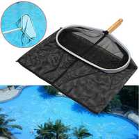 Heavy Duty Swimming Pool Skimmer Leaf Rake Mesh Net 18inch Aluminum Frame