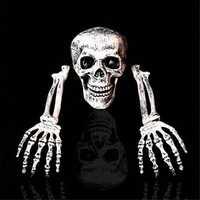 Halloween Scary Horror Skeleton Decorations Head Bones Skull Hand Outdoor Indoor
