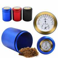 Aluminum Stash Jar Storage Airtight Smell Proof Herbs Spices Container Essential (With Hygrometer) Kitchen Storage Container