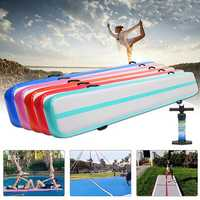 300x40x20cm Gymnastics Mat Airtrack Yoga Fitness Training Pads Tumbling Mattress With Pump