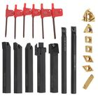 Discount pas cher Machifit 7pcs 12mm Shank Lathe Boring Bar Turning Tool Holder Set With Carbide Inserts