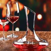 1500ml Elegant Lead Free Crystal Glass Wine Decanter Red Wine Carafe Aerator Wine Pourer