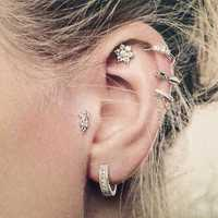 6pcs Bohemian Set of Ear Stud Earrings Tassel Flower Earring