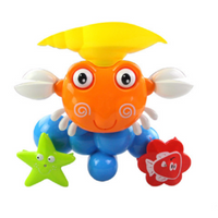 Baby Crab Windmills Bath Toy Faucet Plastic Wash Toys Spray Water Fun
