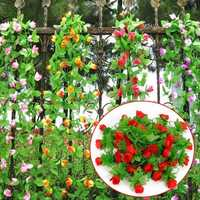 2m Artificial Flower Rose Leaf Vine Ivy Garland Decorations