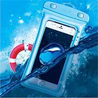 USAMS IPX8 Waterproof Airbag Floating Touch Screen Under Water Phone Bag for iPhone Xiaomi