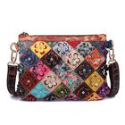 Meilleurs prix Women Genuine Leather Flower Decorational Patchwork Bag