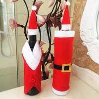 Christmas Red Wine Bottle Bag Santa Claus Christmas Decoration