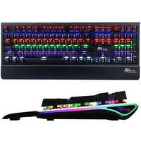 Royal Kludge RK Side S108 108 Keys NKRO RGB USB Wired Brown Switch Mechanical Gaming Keyboard
